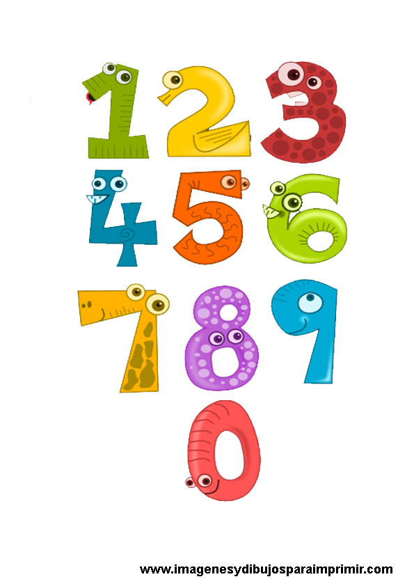 Imprimir lamina de numeros para ni os imagenes y dibujos for Laminas infantiles para imprimir