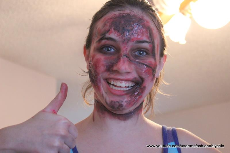 fashionably crafty paris easy zombie makeup tutorial for