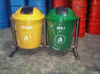 Harga tong dan tempat sampah fiber