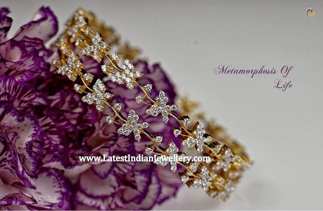 Designer Diamond Butterfly Bangles