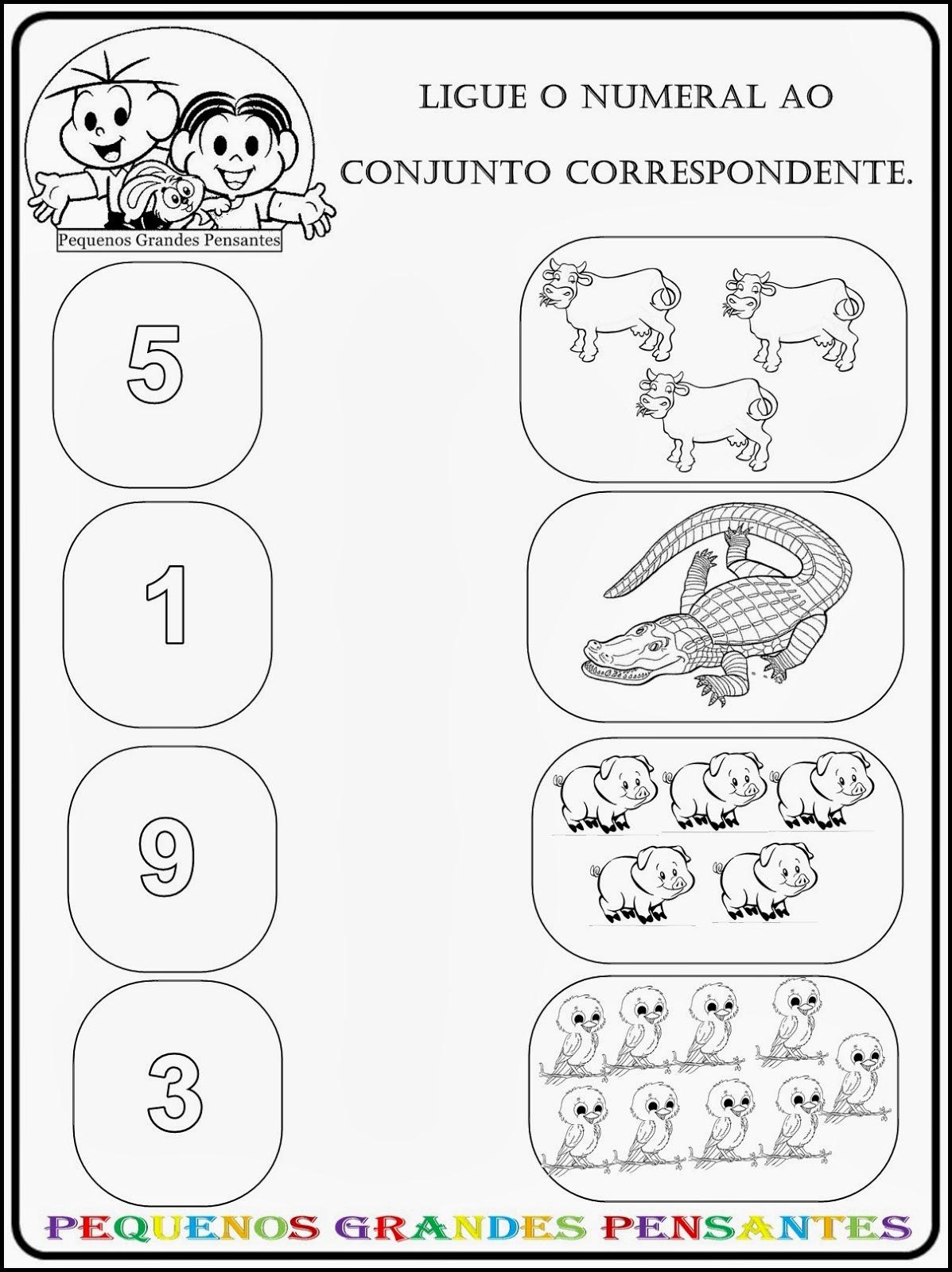 Super Pequenos Grandes Pensantes.: Atividades Numéricas para Educação  OG82