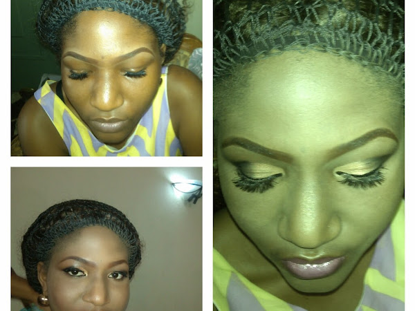 Lylac, Torquoise Blue and Gold Wedding Color Makeup