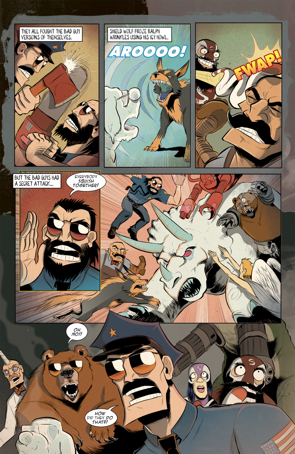 Read online Axe Cop: Bad Guy Earth comic -  Issue #3 - 10