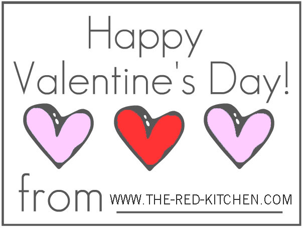 picture relating to Happy Valentines Day Printable known as the crimson kitchen area: \