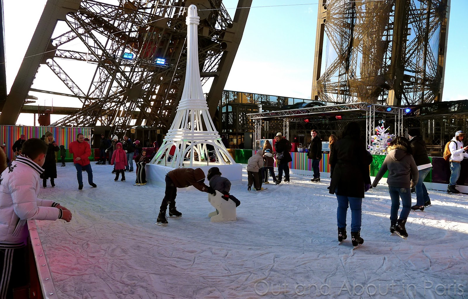 Ice Skating On The Eiffel Tower At Trocadero And In Front