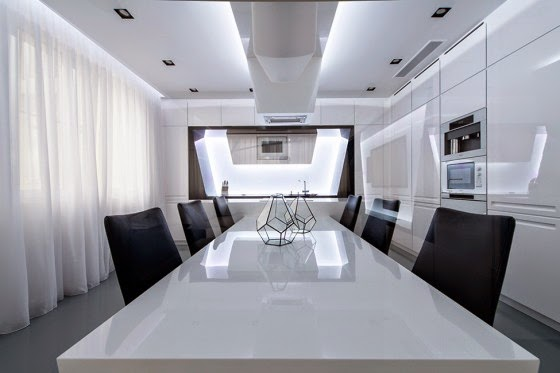 Dining room modern kitchen design