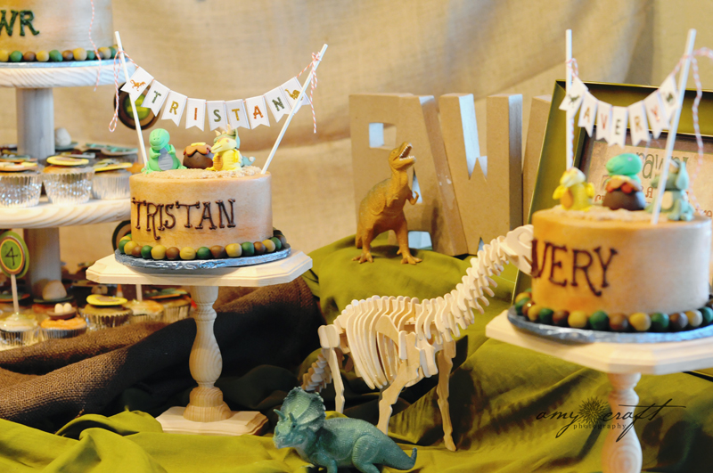 ... Party Ideas Rustic Dinosaur Twins Birthday Party  Karas Party Ideas