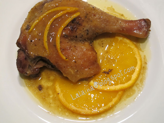 La casa de lalaina muslos de pato a la naranja for Pato a la naranja