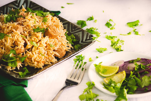 how to cook soya chunk pulao