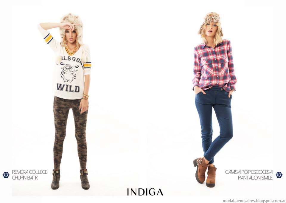 Camisas a cuadros leñadoras o estampado escocés (tartan). Ropa de Moda otoño invierno 2014 Argentina.