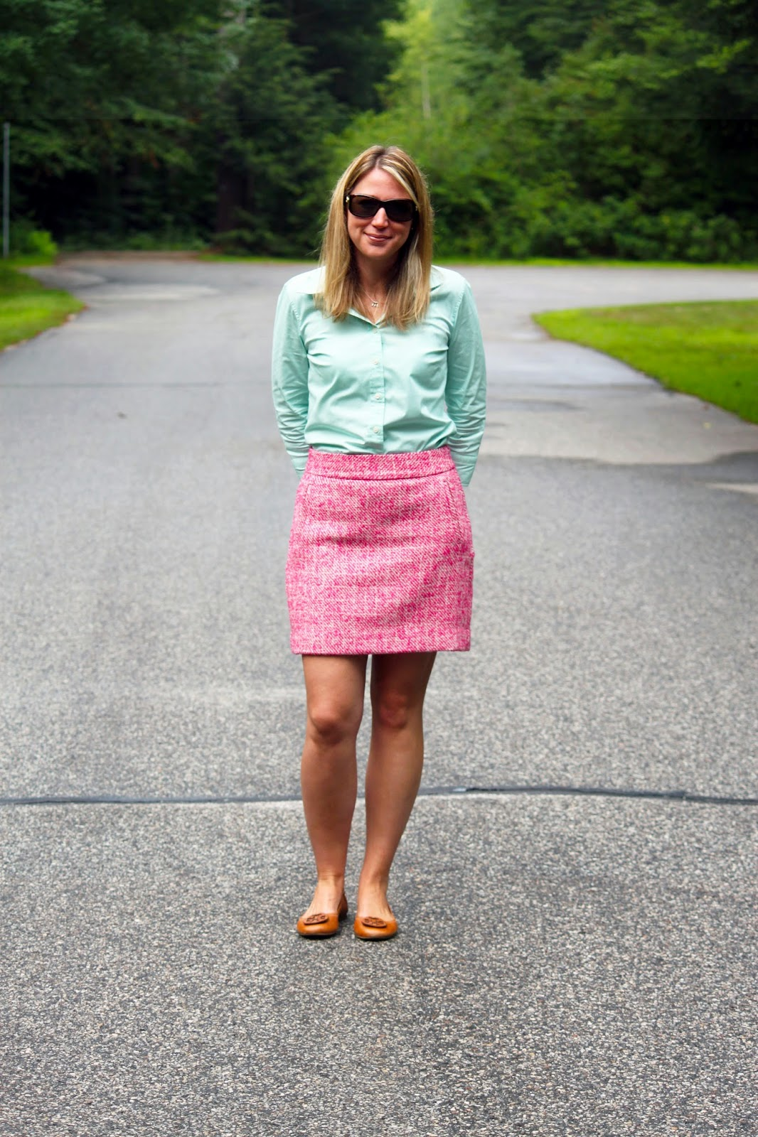 Mint + Pink Tweed // The Salty Hanger