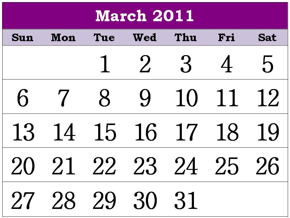 calendar 2011 march and april. house Calendar Planner 2011