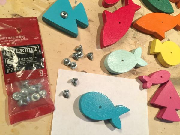 diy wood fish magnetic hardware