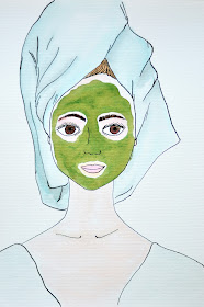 towel series beauty illustration
