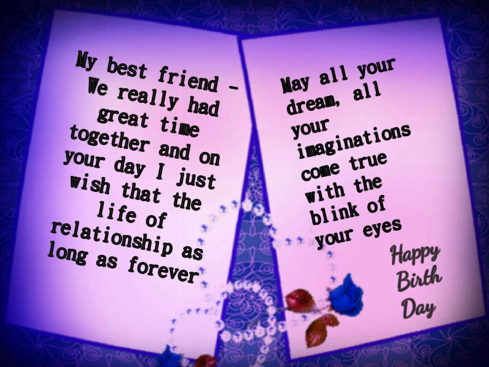 Latest birthday wishes happy birthday quotesnew best birthday a beautiful card image with latest and cute wish for your best friend m4hsunfo Gallery