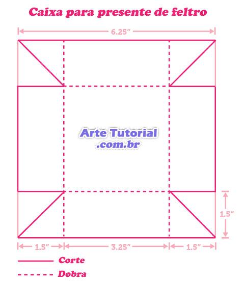 Como fazer caixas coloridas de feltro - Passo a passo - Arte Tutorial