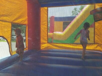 Bouncy Castle, kids, small-town festival