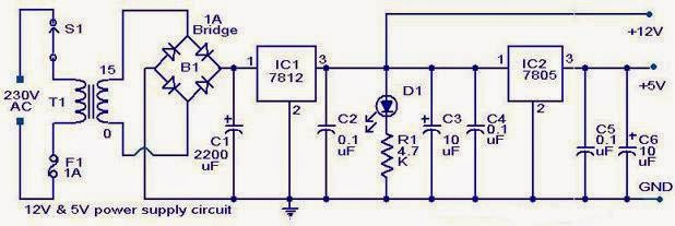 12V & 5V Combo power supply