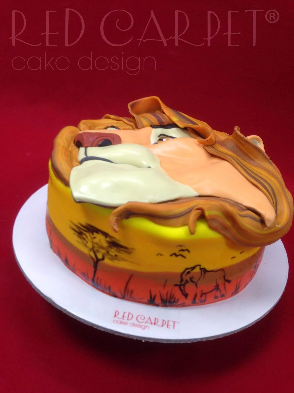 King Lion Cake By Red Carpet Cake Design Red Carpet Cake Design
