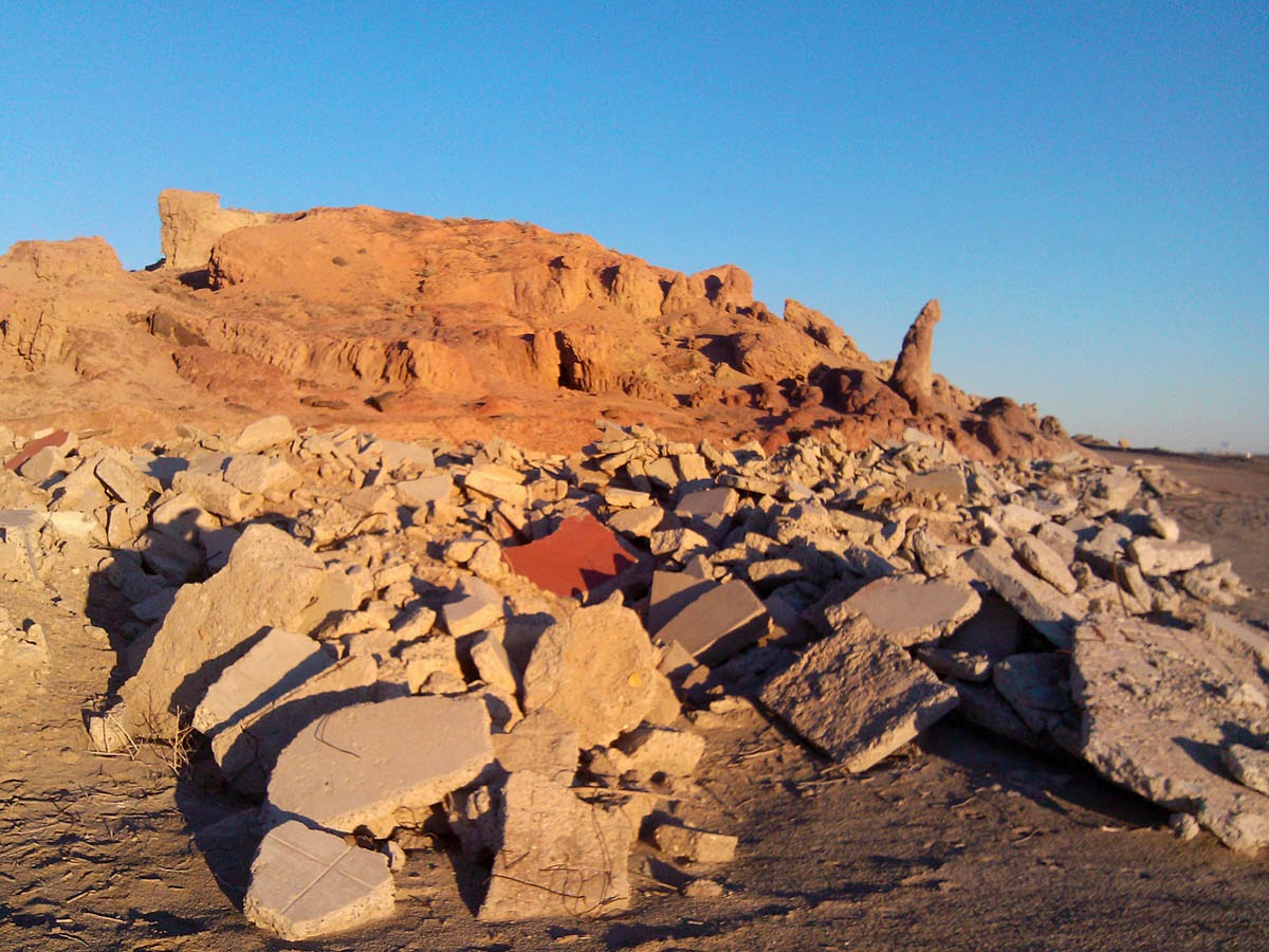 Rubble of Red Hill Marina