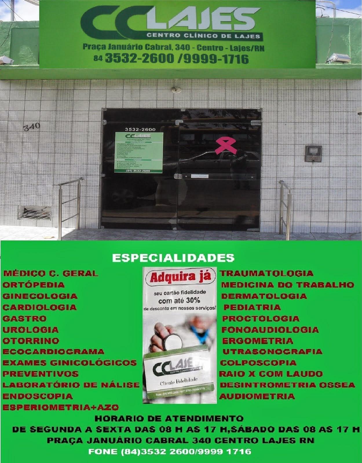 CENTRO CLINICO DE LAJES CLINICA MÉDICA E ORTOPÉDICA ESPECIALIZADA EM SAÚDE.
