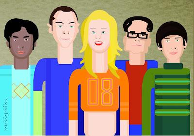 The Big Bang Theory,ILUSTRADOR SEVILLANO,ilustracion en sevilla