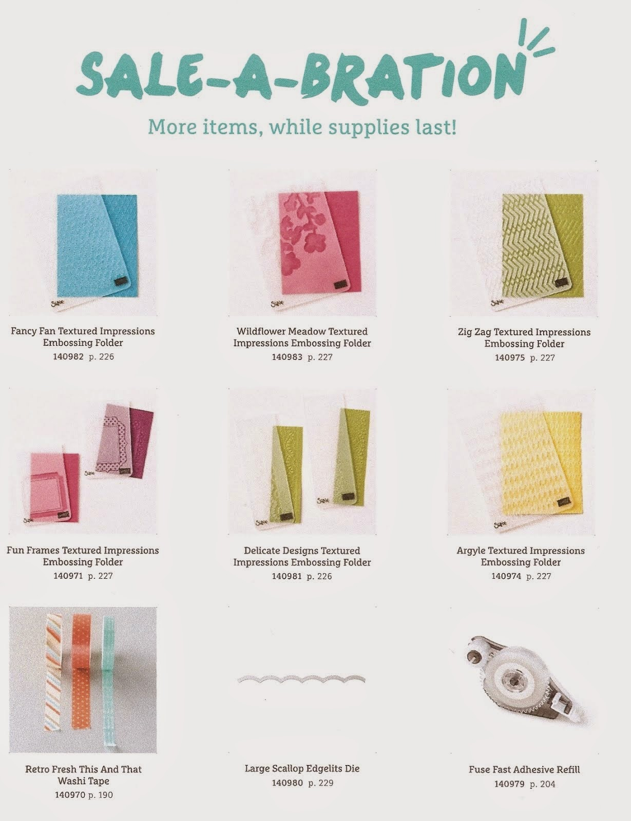 More Items Sale-A-Bration