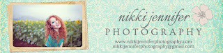 frame of pretty girl and nikki jennifer photography header and logo