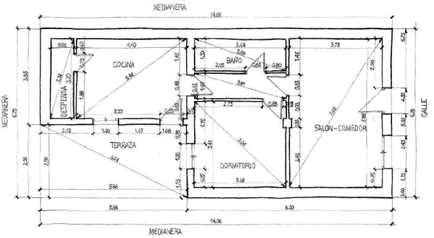 Rc i e s gran v a alicante trabajo 5a croquizado for Normas para planos arquitectonicos
