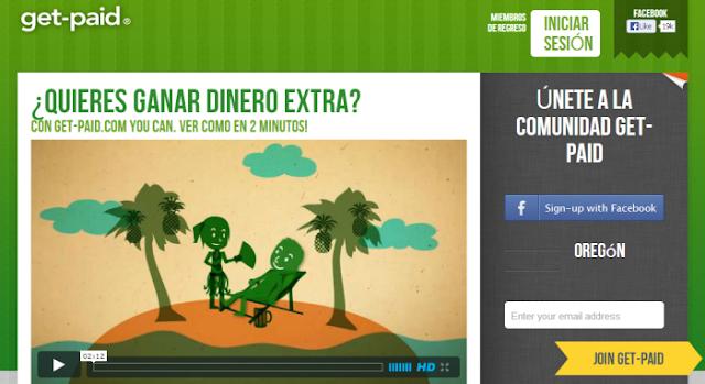 Get-pay (Ganar por clickar anuncios, ver vídeos, jugar, hacer encuestas y otras actividades)