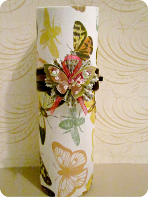 Mod podge, butterflies, butterfly vase, mod podge vase