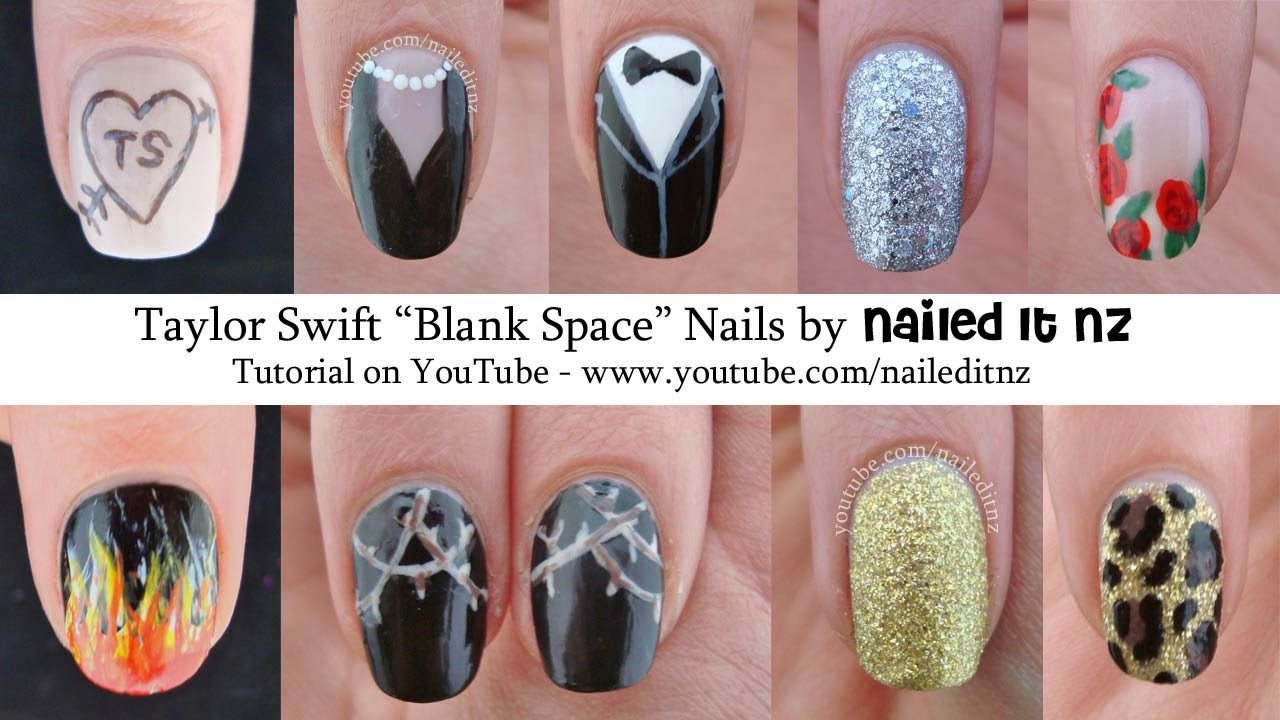 Taylor Swift Blank Space Nail Art Tutorial