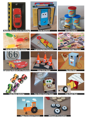 first up disney is sharing a family activities file with you download the file here youll get directions for a whole series of adorable cars craftssome - Disney Cars Activities