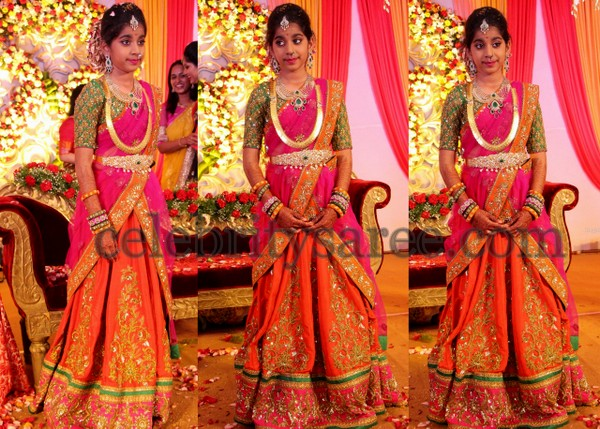 Shriya in Shashi Vangapalli Half Saree