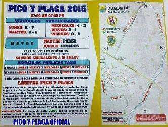 PICO Y PLACA 2016 (CLICK AMPLIAR)