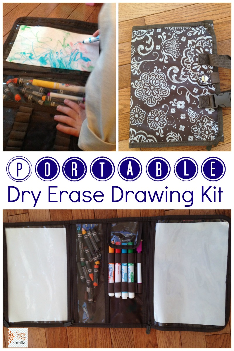 Make a Portable Dry Erase Drawing Kit for Kids using a Thirty One Beauty Bag!
