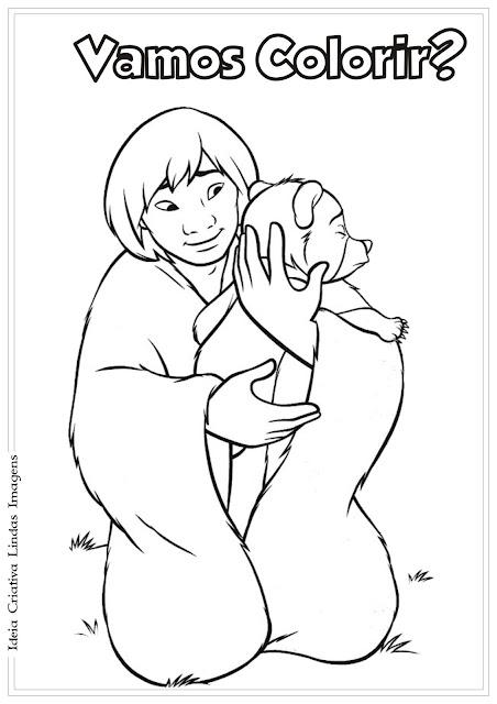 Irmão Urso desenho para colorir