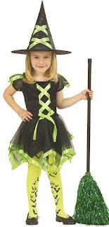 Halloween Kostume Grøn Kjole