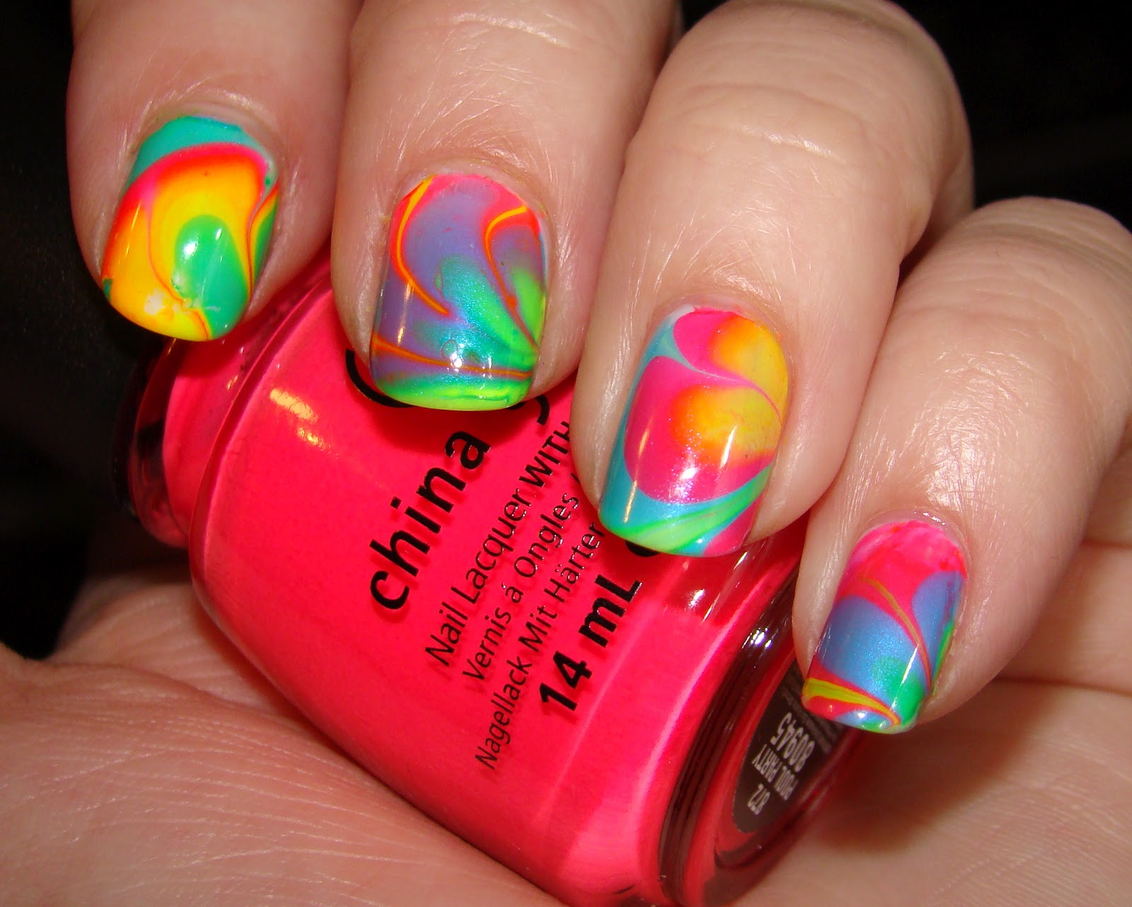 Neon Water Marble Neon Water Marble With China