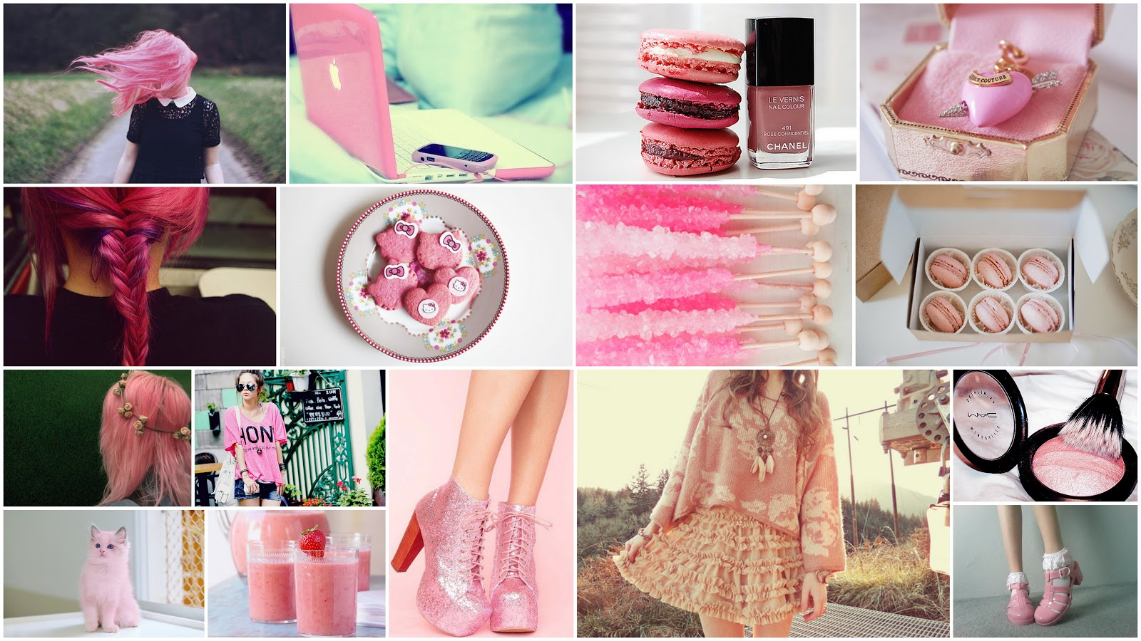 girly collage wallpaper - photo #33