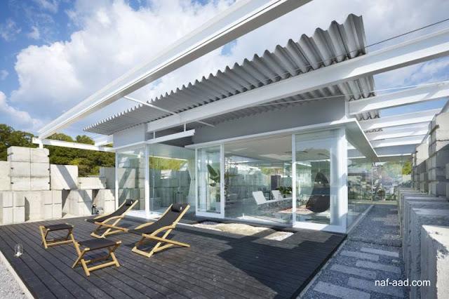 Casa contemporánea tipo Glass House en Hiroshima en Japón
