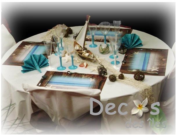 D corations marines des ambiances set de table maison for Le set de table