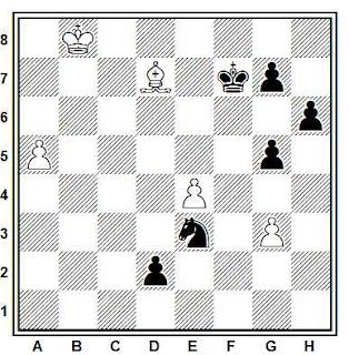 Problema ejercicio de ajedrez número 790: Estudio de G. Nadareishvili (Torneo Drosha, 1965)