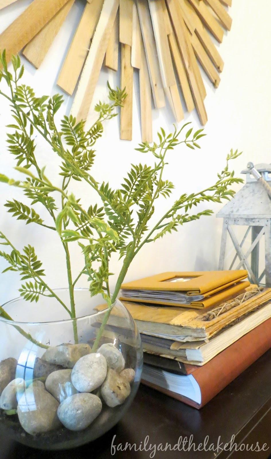 Family and the Lake House - Faux Plant