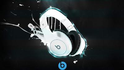 White monster beats headphones graffiti wallpaper