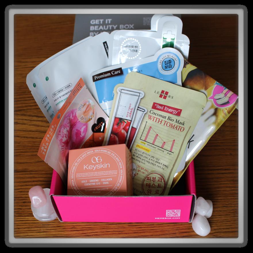 겟잇뷰티박스 by 미미박스 memebox beautybox #the mask edition #2 unboxing review preview box inside