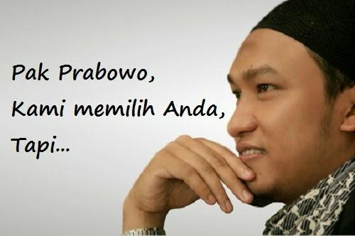 Nasehat Salim A Fillah Untuk Capres Prabowo Subianto