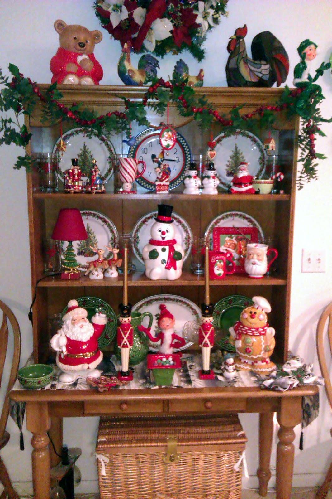 Decorating Ideas > J Thaddeus Ozarks Cookie Jars And Other Larks Christmas  ~ 012415_Christmas Decorating Ideas Hutch