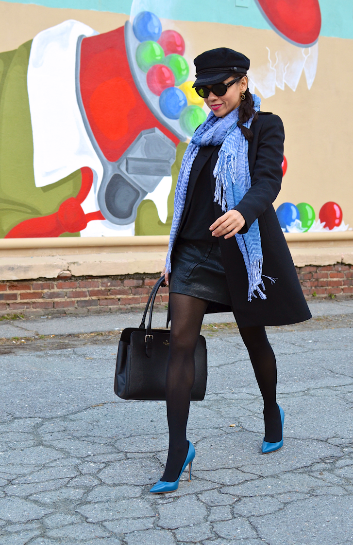 Blue pumps street style