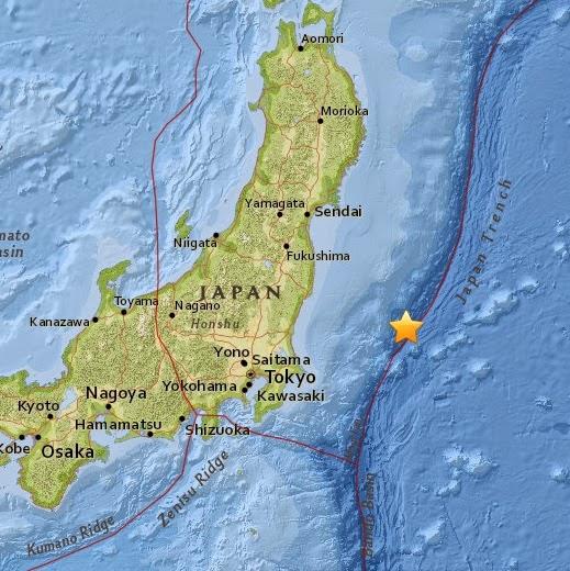 Magnitude 4.6 Earthquake of Iwaki, Japan 2015-04-24